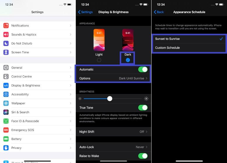 Utilice el modo oscuro en iOS 13 y iPadOS 13