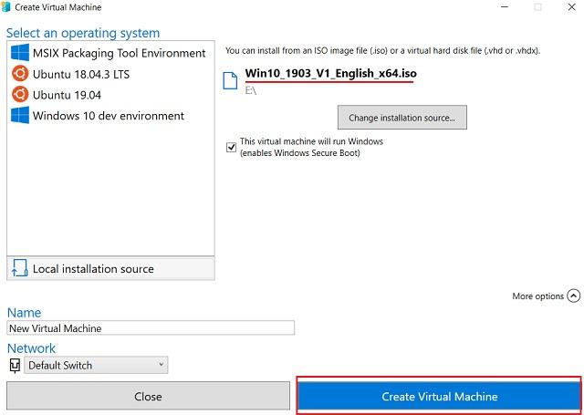 2. Cree la máquina virtual 4 de Windows 10