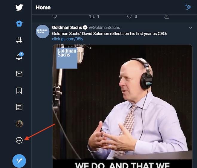 haga clic en el botón Más (...) en la barra lateral.
