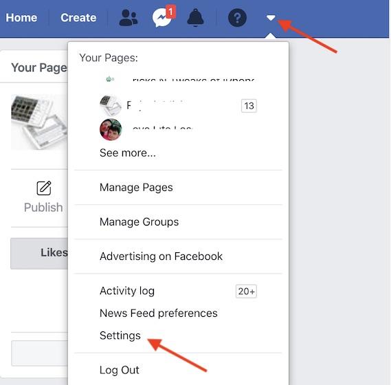Зайдите в настройки Facebook в сети