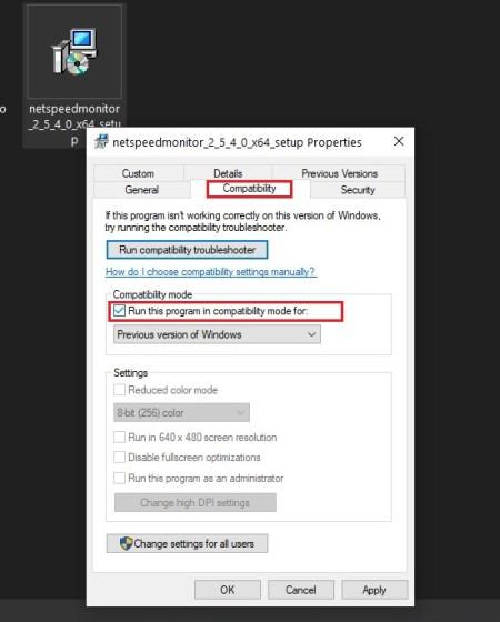 Compatibilidad con NetSpeedMonitor