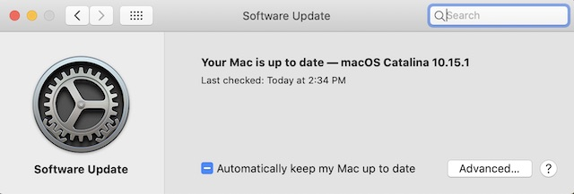 Обновление программного обеспечения на вашем Mac
