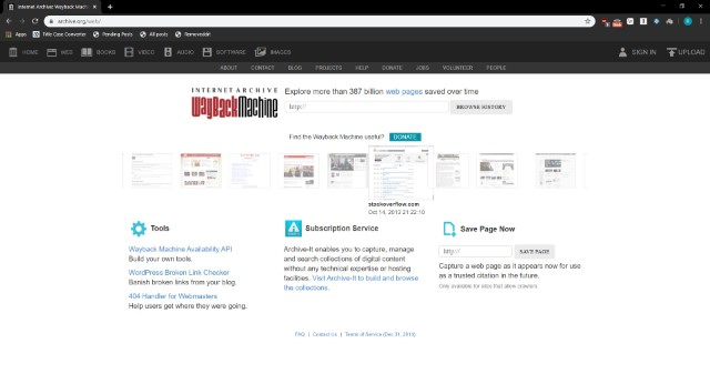 WaybackMachine - Leer publicaciones y comentarios de Reddit eliminados