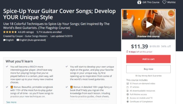 9. Spice-Up Your Guitar Cover Songs - Develop Your Unique Style