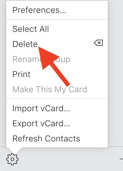 Haga clic en la opción Eliminar