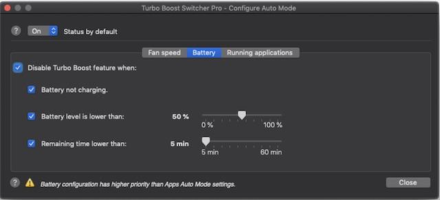 Настройте Turbo Boost Switcher Pro