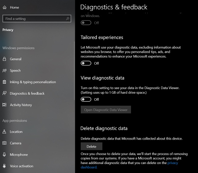 Improve Privacy on Windows 10 1