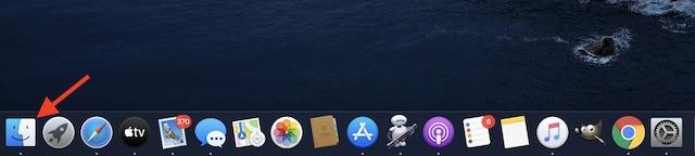 Inicie la aplicación Finder en macOS
