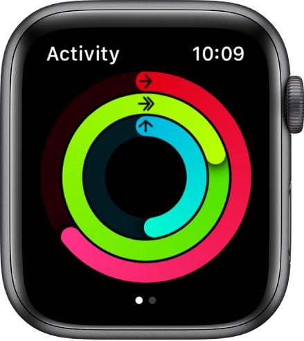 Aplicación de actividad en Apple Watch