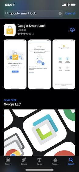 Приложение Google Smart Lock
