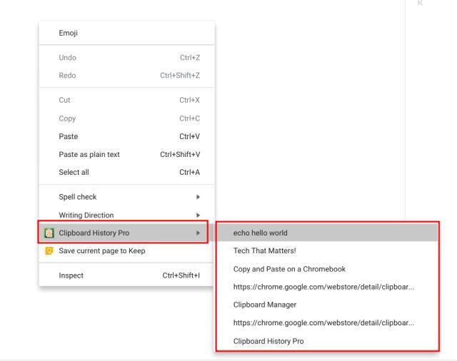 Менеджер буфера обмена: копирование и вставка в Chromebook