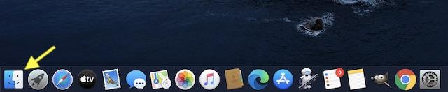 Запустите Finder на вашем устройстве MacOS