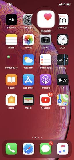 Öffnen Sie die Apple Health App auf Ihrem iPhone