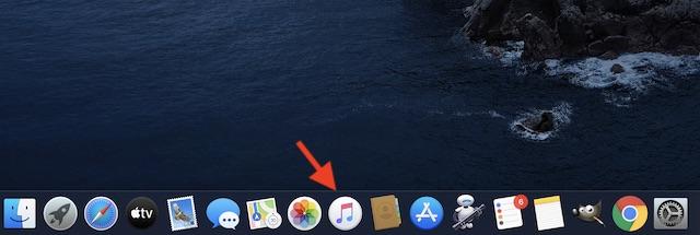 Откройте приложение Music на macOS