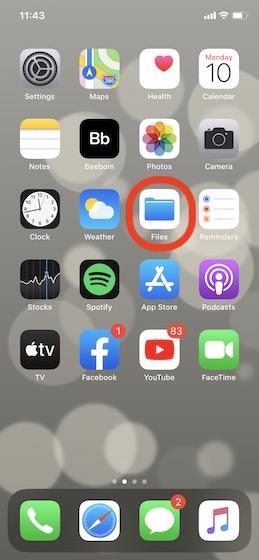 Приложение «Открыть файлы» на вашем iPhone