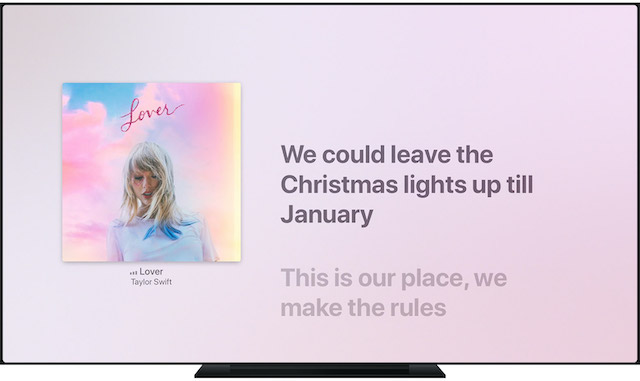 Access Time-Synced Lyrics in Apple Music on your Apple TV