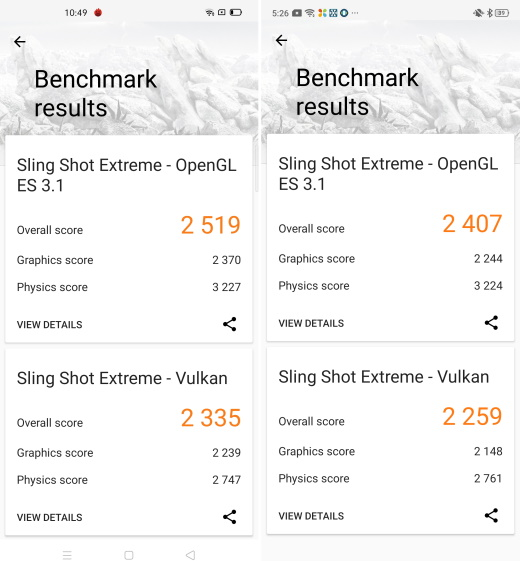 3DMark - Snapdragon 730G против Snapdragon 720G