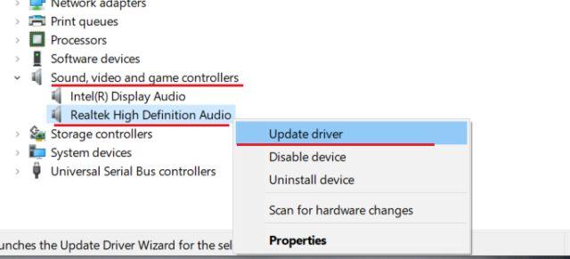 actualizar controlador de sonido