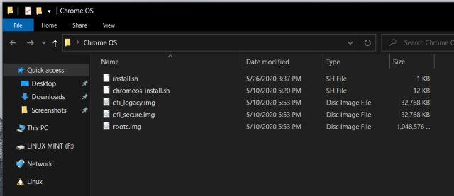 Flash y mover los archivos