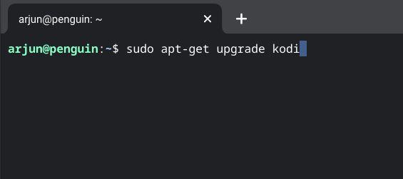 actualizar código en linux