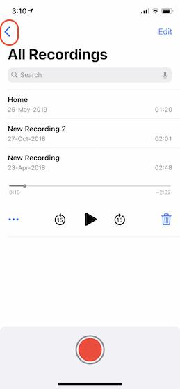 1. Erstellen und Verwalten von Ordnern in Sprachnotizen in iOS 14