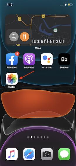 Abra la aplicación Fotos en su iPhone