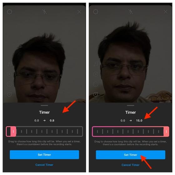 Establecer un temporizador para los carretes de Instagram