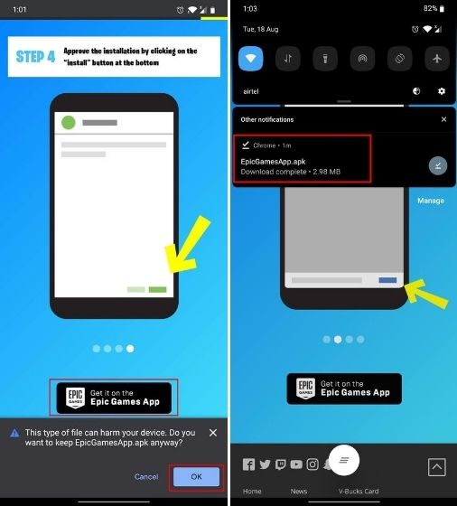 Instalar Fortnite en Android sin Play Store
