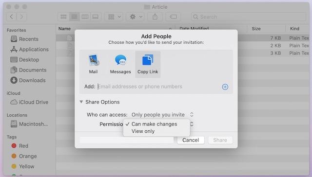 6. Comparta archivos usando Compartir archivos de iCloud en Mac