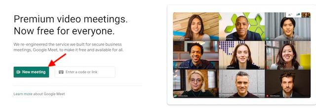 Abrir Google Meet