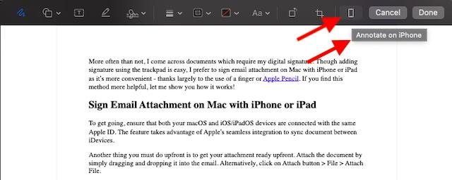 Аннотирование на iPhone или iPad