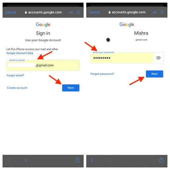 Войдите в аккаунт Google
