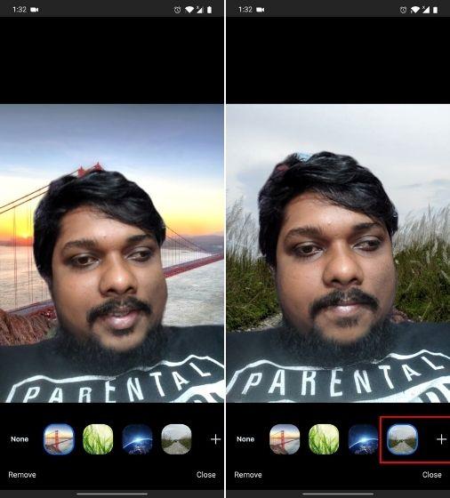 Добавить виртуальные фоны Zoom на Android