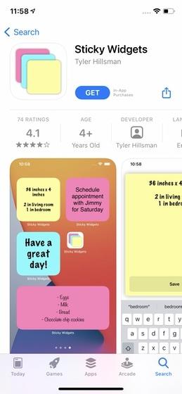 Laden Sie die Sticky Widet App herunter
