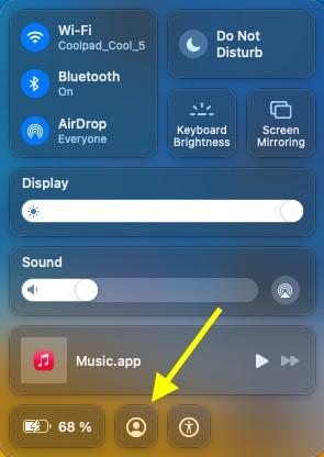 Включить быстрое переключение пользователей в macOS big sur