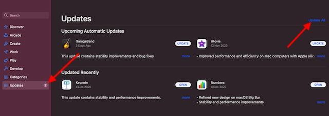 Обновить приложения на Mac