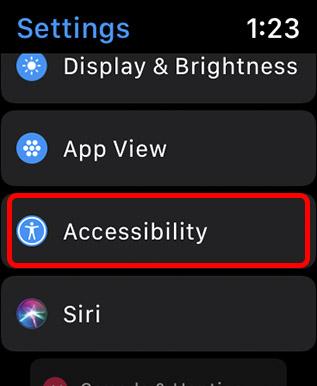 настройки специальных возможностей Apple Watch