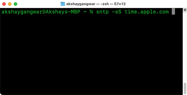 команда для исправления даты времени macos, чтобы исправить ошибку сервера восстановления не удалось