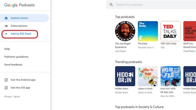 RSS-канал подкастов Google