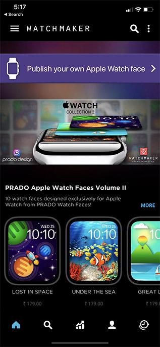 приложение для часовщика пользовательские циферблаты Apple