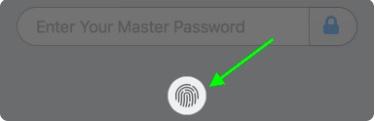Нажмите на Touch ID