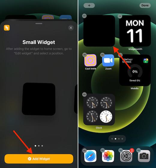 Создайте прозрачный виджет на главном экране для iPhone