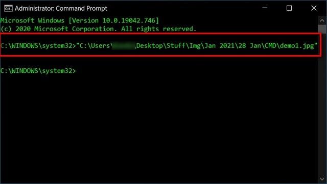 Открытие файлов напрямую через командную строку