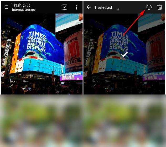 Восстановить удаленные фотографии в Android