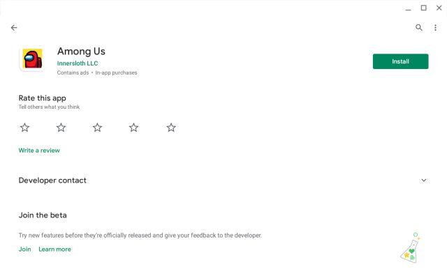 Juega entre nosotros en un Chromebook con el soporte de Play Store