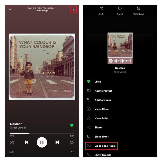 Создать радиостанцию Spotify