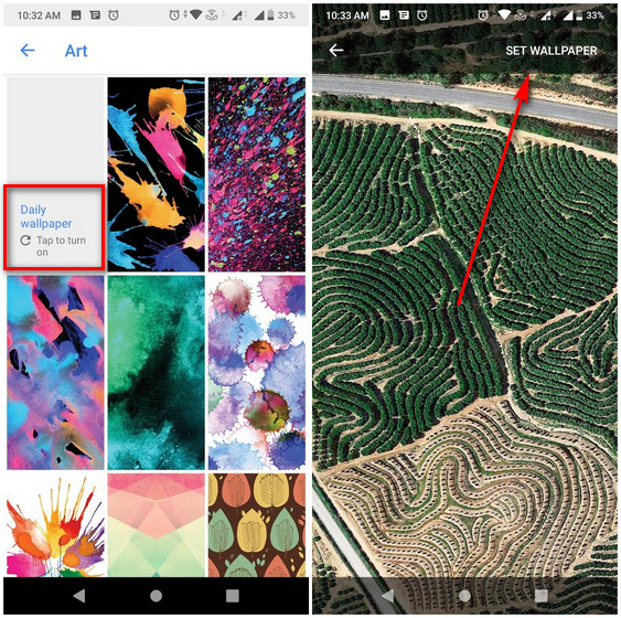 Wallpapers by Google Automatically Change Lock Screen Wallpapers on Android