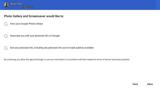 предоставить разрешение на доступ к Google Фото