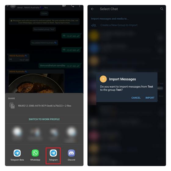 elegir telegrama de grupo objetivo