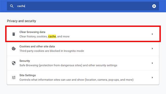 Google Chrome очистить данные